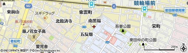 愛知県豊橋市東田町(三反畑)周辺の地図