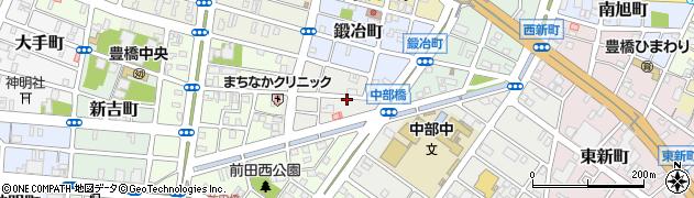 愛知県豊橋市談合町周辺の地図