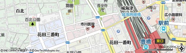 愛知県豊橋市羽田町周辺の地図