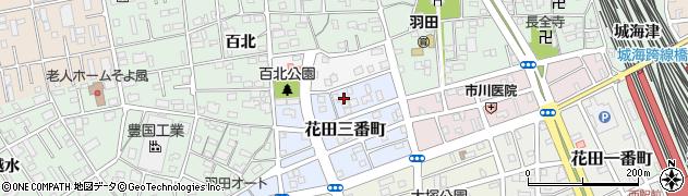 愛知県豊橋市花田三番町周辺の地図