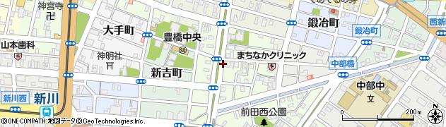 愛知県豊橋市中世古町周辺の地図