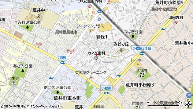 〒676-0018 兵庫県高砂市荒井町若宮町の地図