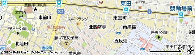 愛知県豊橋市東田町(北臨済寺)周辺の地図
