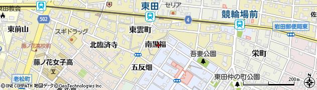 愛知県豊橋市東田町(南黒福)周辺の地図