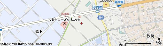愛知県豊橋市小向町(蜂ケ尻)周辺の地図