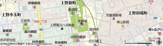 念佛寺周辺の地図