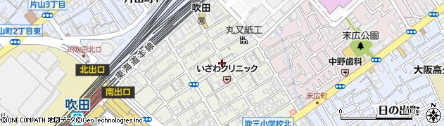 大阪府吹田市昭和町周辺の地図