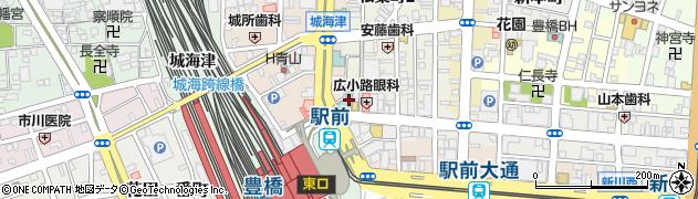 酒と和みと肉と野菜 豊橋駅前店周辺の地図