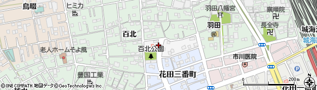 愛知県豊橋市北側町周辺の地図