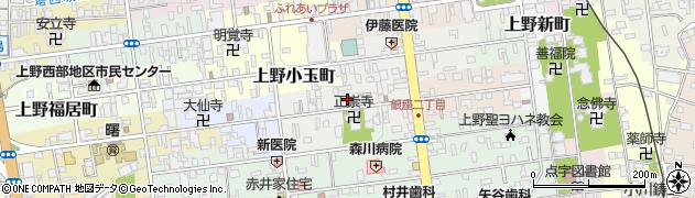 三重県伊賀市上野紺屋町周辺の地図