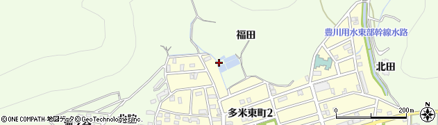 愛知県豊橋市多米町(福田)周辺の地図