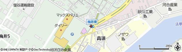 梅井東周辺の地図