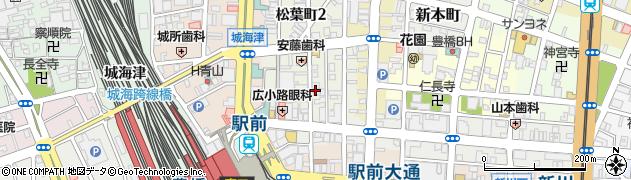 クラブプレイヤー周辺の地図