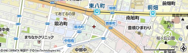 愛知県豊橋市西新町周辺の地図