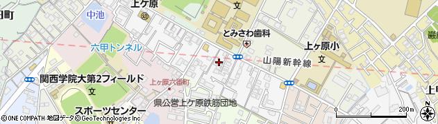 兵庫県西宮市上ケ原三番町周辺の地図