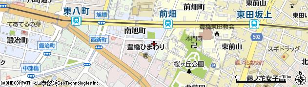 愛知県豊橋市南旭町周辺の地図