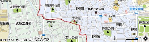 大空寺周辺の地図