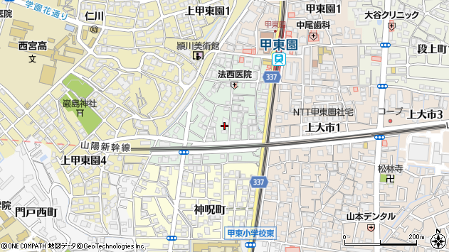 〒662-0822 兵庫県西宮市松籟荘の地図