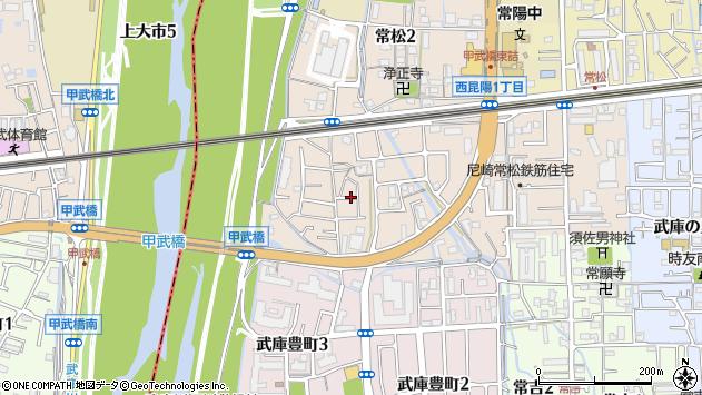 〒661-0046 兵庫県尼崎市常松の地図