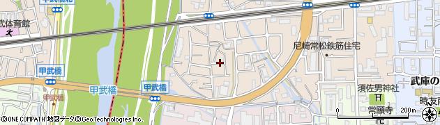 兵庫県尼崎市常松1丁目周辺の地図