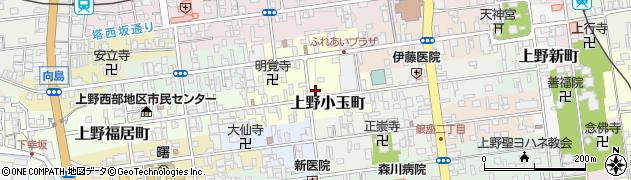 三重県伊賀市上野小玉町周辺の地図