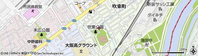 大阪府吹田市吹東町周辺の地図