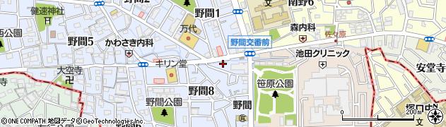炭火焼肉たじま周辺の地図