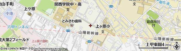 兵庫県西宮市上ケ原二番町周辺の地図