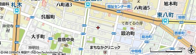 愛知県豊橋市曲尺手町周辺の地図