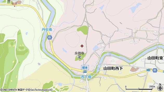 〒651-1261 兵庫県神戸市北区山田町坂本の地図