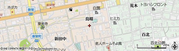 愛知県豊橋市新栄町(鳥畷)周辺の地図