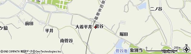 愛知県美浜町(知多郡)野間(菅谷)周辺の地図