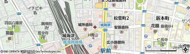 愛知県豊橋市大橋通周辺の地図