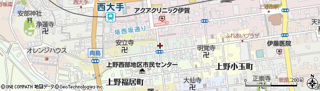 三重県伊賀市上野西町周辺の地図