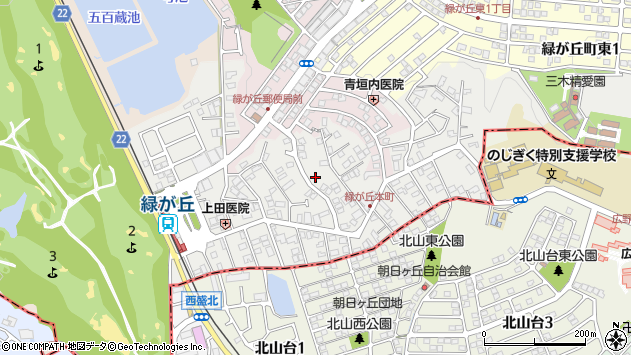 〒673-0534 兵庫県三木市緑が丘町本町の地図