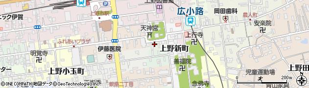 三重県伊賀市上野片原町周辺の地図
