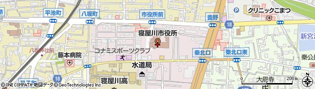 大阪府寝屋川市周辺の地図