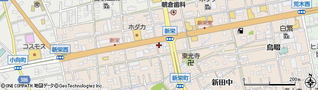 愛知県豊橋市新栄町(南小向)周辺の地図