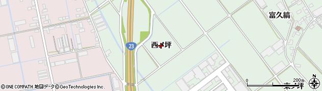 愛知県豊橋市富久縞町(西ノ坪)周辺の地図