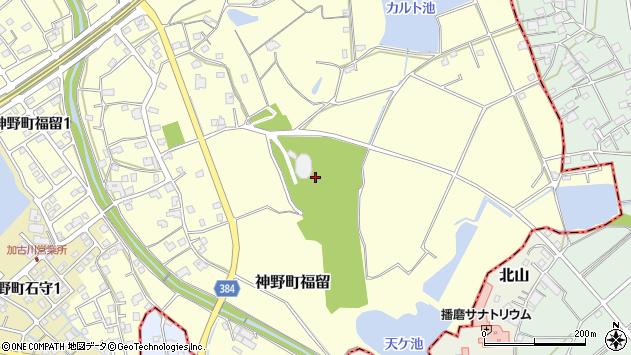 〒675-0004 兵庫県加古川市神野町福留の地図