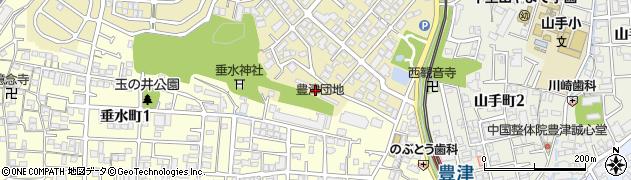 府公社豊津団地周辺の地図