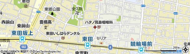 愛知県豊橋市東田町(東郷)周辺の地図