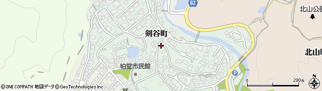 兵庫県西宮市剣谷町周辺の地図