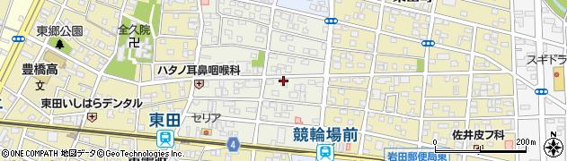 愛知県豊橋市上地町周辺の地図