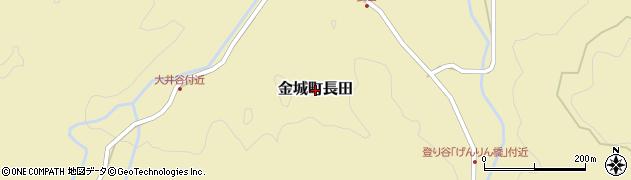 島根県浜田市金城町長田周辺の地図