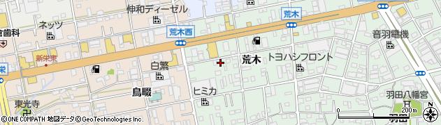愛知県豊橋市花田町(荒木)周辺の地図