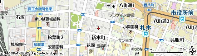 愛知県豊橋市新本町周辺の地図