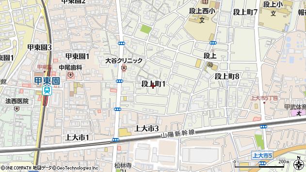 〒663-8006 兵庫県西宮市段上町の地図