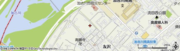 兵庫県加古川市加古川町(友沢)周辺の地図