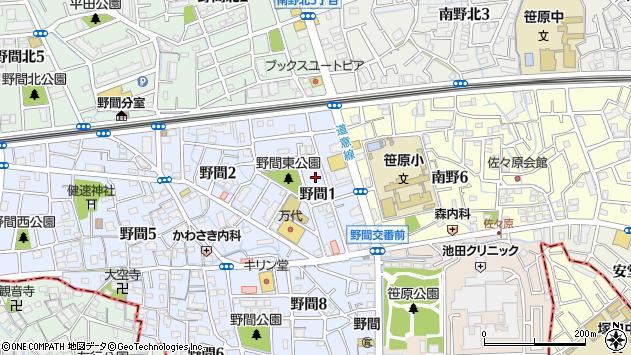 〒664-0873 兵庫県伊丹市野間の地図